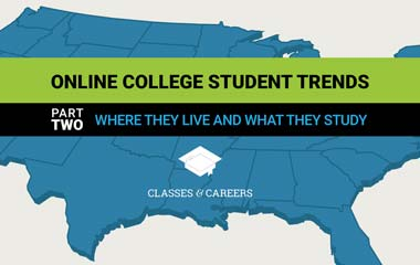 Online Student Trends: Housing and Study Areas Infographic